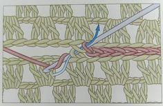 Technique de raccord au crochet (entre 2 grannies par exemple)...pourrait aussi fonctionner en tricot