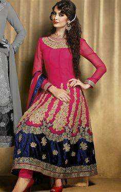 Glorious Fuchsia Wedding Salwar Kameez` IDE66125580 - www.indianwardrobe.com