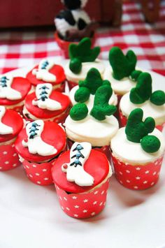 Darling Cupcakes from this Yee Haw Cowboy Birthday Party with So Many Really Fun Ideas via Kara's Party Ideas KarasPartyIdeas.com #cowboyparty #westernparty #wildwestp...