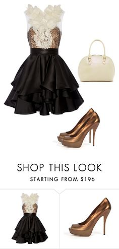 """""""Untitled #5084"""" by browneyegurl ❤ liked on Polyvore featuring Marchesa, Gucci and Tiffany & Fred"""
