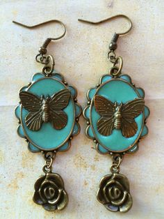 A personal favorite from my Etsy shop https://www.etsy.com/listing/463131778/butterfly-earringsdangle