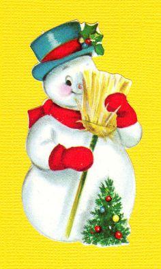 #snowman mid century