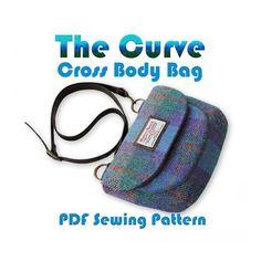 The Curve - Crossbody Bag PDF Pattern. | Craftsy