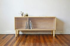 Chilean designer Emmanuel Gonzalez Guzman, has designed and made Cuerda, a wooden sideboard that was inspired by the ropes of a boxing ring. http://buffetsandcabinets.com/