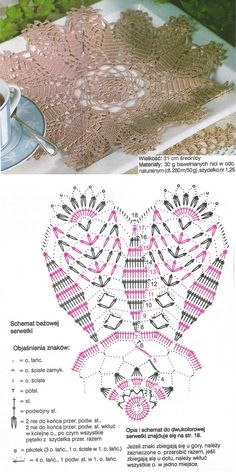 crochet doily diagram