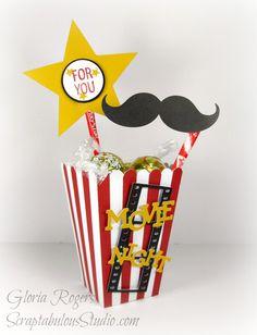 Scraptabulous Studio: Popcorn Box from the CTMH Artiste Cartridge