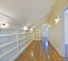 4 Easy And Cheap Cool Ideas: Small Attic Bathroom attic space pictures.Tiny Attic Storage finished attic before and after.Attic Access The Loft. Attic Closet, Closet Bedroom, Master Bedroom, Attic Wardrobe, Master Closet, Attic Office, Attic Master Suite, Garage Attic, Attic Library