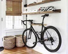Items similar to Cedar Bike Rack on Etsy Wood Bike Rack, Wall Mount Bike Rack, Bike Hooks, Bike Shelf, Bicycle Rack, Bicycle Decor, Bicycle Wheel, Wooden Bicycle, Cruiser Bicycle