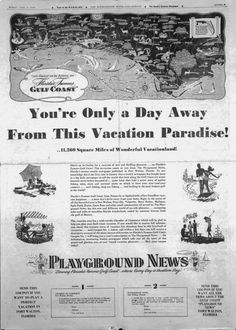 Florida Memory - Invitation from the Playground News for a Fort Walton vacation as advertised in the Birmingham News  June 2, 1946