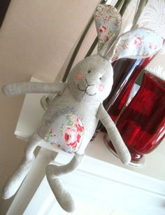rabbit, not a freebie: love ear fabric xox