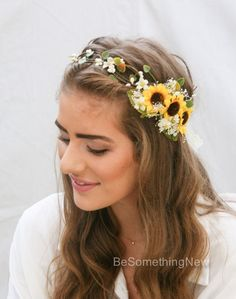 Foliage Green Adult Womens Teens Handmade Acrylic Crochet Flowered Headband