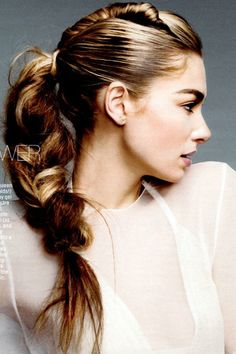 perfect pairing — sleek on top and rough textured braid