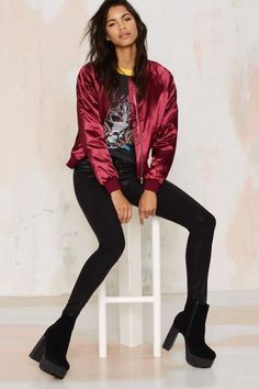 Satin Comfort Bomber Jacket | Shop Clothes at Nasty Gal!