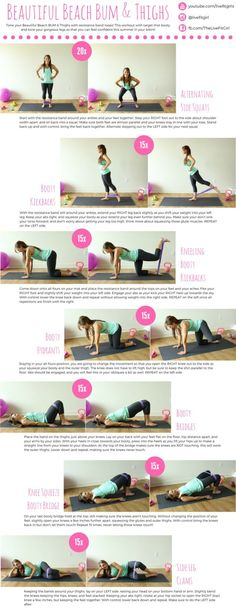 Tone a beautiful beach bum this summer with this booty workout using resistance bands