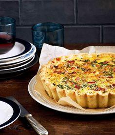 Australian Gourmet Traveller recipe for Bacon and Stilton tart