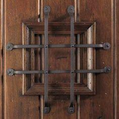 Main Door Rustic Mahogany Type Prefinished Distressed Solid Wood Speakeasy Entry Door Slab-SH- & Speak Easy Details - This site offers custom-made doors including a ...