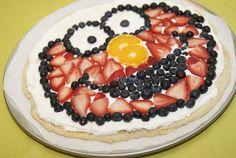 Elmo Fruit Pizza