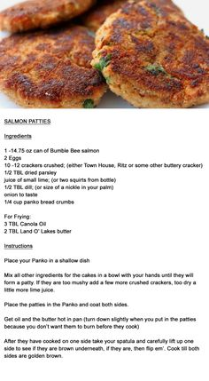 salmonpatties patties salmon Salmon Patties Salmon PattiesYou can find Salmon patties recipe and more on our website Salmon Recipe Pan, Canned Salmon Recipes, Seared Salmon Recipes, Easy Salmon Recipes, Baked Salmon, Fish Recipes, Seafood Recipes, Canned Salmon Cakes, Soul Food Recipes