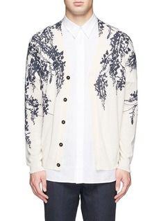 ANN DEMEULEMEESTERFloral print cotton-linen cardigan
