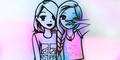 friends, bff, and best friends image Best Friend Drawings, Girly Drawings, Easy Drawings, Best Friend Sketches, Friends Sketch, Girly M, Bff Pictures, Best Friends Forever, Kawaii Girl