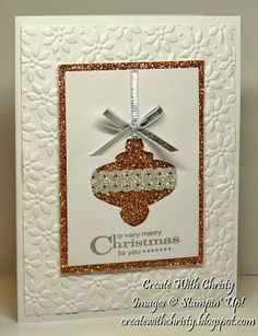 Stampin' Up! Christmas Ornament Card - Christy Fulk, Stampin' Up! Demo