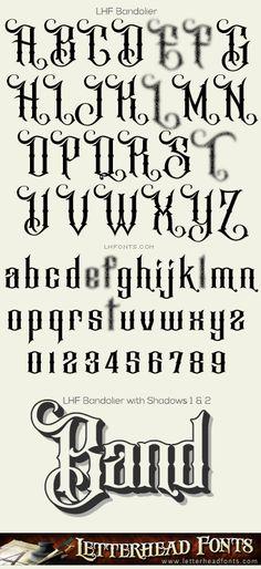 Letterhead Fonts / LHF Bandolier font set / Quality Fonts