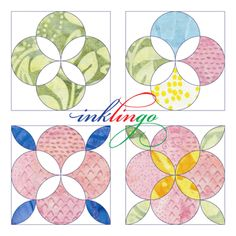 The shapes in the new Clamshell Rose shape collection create some elegant possibilities. Circle Quilts, Square Quilt, Quilt Blocks, Quilting Tutorials, Quilting Projects, Quilting Designs, Quilting Room, Machine Quilting, Paper Peicing Patterns