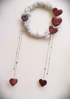 Dreamcatcher wreath housewarming gift fabric art wall decor artistic gift for everyone home decor hearts rose beads Handmade Shop, Etsy Handmade, Handmade Items, Handmade Gifts, Fabric Roses, Fabric Art, Love Gifts For Her, Making Paper Mache, Fabric Wreath