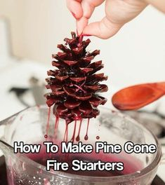 How To Make Pine Cone Fire Starters There are a lot of fire starters out there, but these are cool and can have them as a decoration in the house if nothing else, until you need them. This DIY project is creative and practically free. These dipped pinecones are so easy that this can be a really_ê_ >>> Find out more at the image link. #CampingHoliday