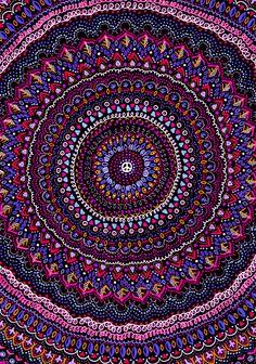 Mandala peace blue pink Art Print by laurafrere Love Blue, My Love, Pink Art, Mandala Pattern, Tapestry, Peace, Art Prints, Wallpaper, Mandalas
