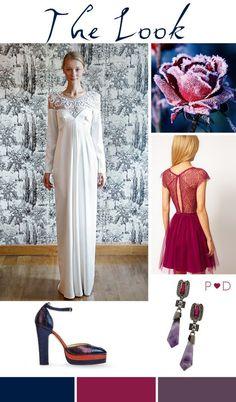 Bridal Inspiration Board #50 ~ Winter Florals