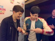 Dan and Phil. >> they look like a freaking married couple, i want to cry
