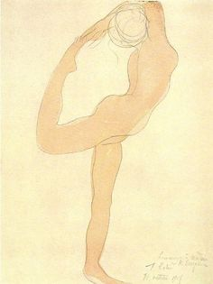 Hommage a Madame/ K. Simpson/ by August Rodin 1905 Dancing Figure/ graphite & watercolor/ National Gallery of Art, Washington, D. Auguste Rodin, Life Drawing, Figure Drawing, Wassily Kandinsky, Rodin Drawing, Art Sketches, Art Drawings, Sculpture Art, Metal Sculptures