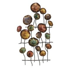 Gerson Metal Flowers Wall Decor