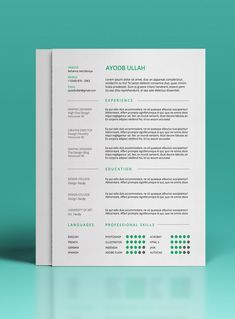 Résumé Template | https://www.behance.net/gallery/15815893/FREE-Resume-Template