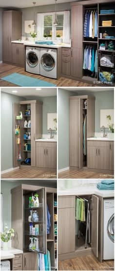 Bigger Laundry Room Or Bigger Closet Laundry room organization Small laundry room ideas Laundry room signs Laundry room makeover Farmhouse laundry room Diy laundry room ideas Window Front Loaders Water Heater Laundry Closet, Small Laundry Rooms, Laundry Room Organization, Laundry In Bathroom, Ikea Laundry Room Cabinets, Laundry In Kitchen, Laundry Cupboard, Diy Cabinets, Bathroom Cabinets