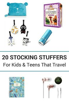 Stocking Stuffers for Kids & Teens That Travel 20 recommendations for products that inspire travel or that can be used during travels Gone with the Family Packing Tips, Travel Packing, Travel Europe, Travel With Kids, Family Travel, Stocking Stuffers For Kids, Another A, Birthday Gifts For Teens, Adolescents