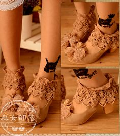 Need to find some cute shoes to diy a pair of these mori girl shoes