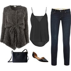 American Vintage cardigans, Paige Denim jeans and By Malene Birger. Polyvore Winter Outfits, Fall Outfits, Casual Outfits, Cute Outfits, Fashion Outfits, Fashion Trends, Cute Highschool Outfits, Fashion Moda, Outfit Sets