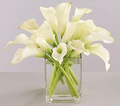 Calla white wedding table centerpiece ideas