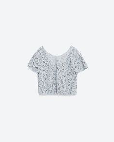 Image 8 of PEPLUM GUIPURE LACE TOP from Zara