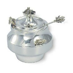 Sterling Silver Honey Dish with Bees
