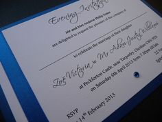 Royal Blue and White Evening invitations