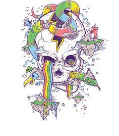 Arte SKULL ISLAND de Jonah Block !! Disponível em camiseta. Só na Touts!