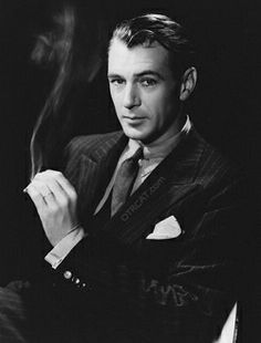 Just watched an old movie from 1949 starring Gary Cooper. Wow, he was handsome!