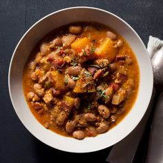 Cranberry Bean and Pumpkin Stew with Grated Corn Food & Wine Magazine