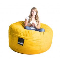 Bean Bag Chair Size: Large, Color: Lemon Yellow - http://delanico.com/bean-bag-chairs/bean-bag-chair-size-large-color-lemon-yellow-525977413/