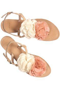 double flower sandals