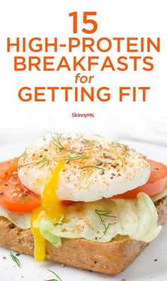 Get a strong, powerful start to your day with these high-protein breakfasts! Get a strong, powerful start to your day with these high-protein breakfasts! Protein Dinner, Healthy Protein Snacks, High Protein Breakfast, High Protein Low Carb, High Protein Recipes, Protein Foods, Healthy Breakfast Recipes, Healthy Recipes, Protein Cake