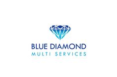 Kewal Arts: blue diamond logo